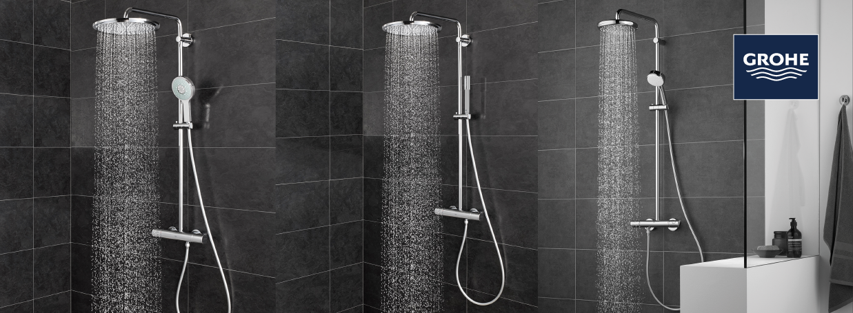 GROHE Shower Systems with diverter at xTWO